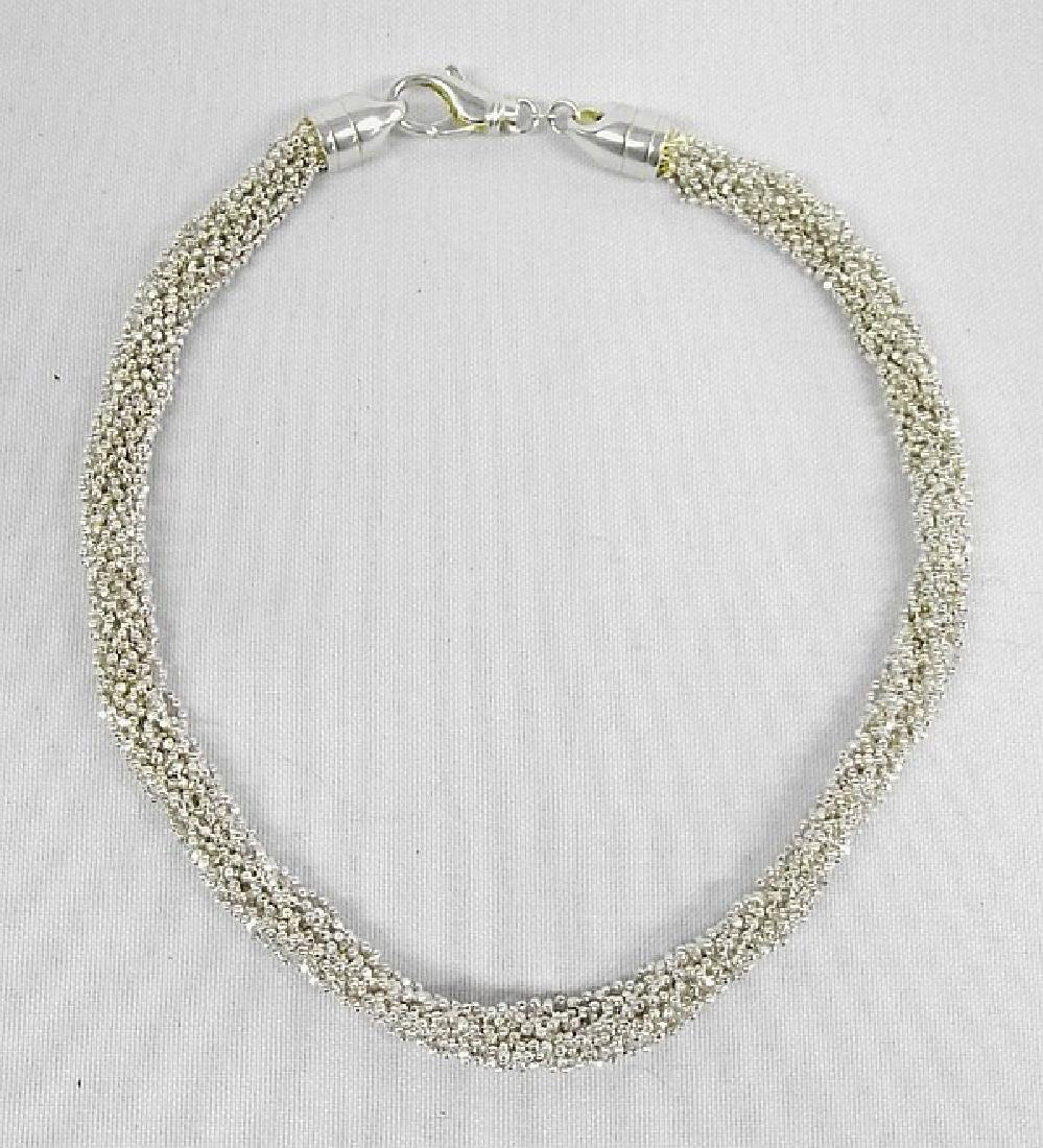 Beautiful Sterling Silver Mesh Choker, measures 16''