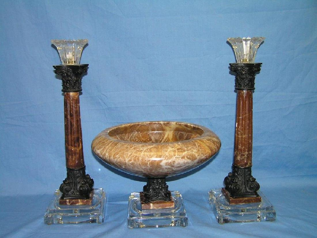 Marble Console Set