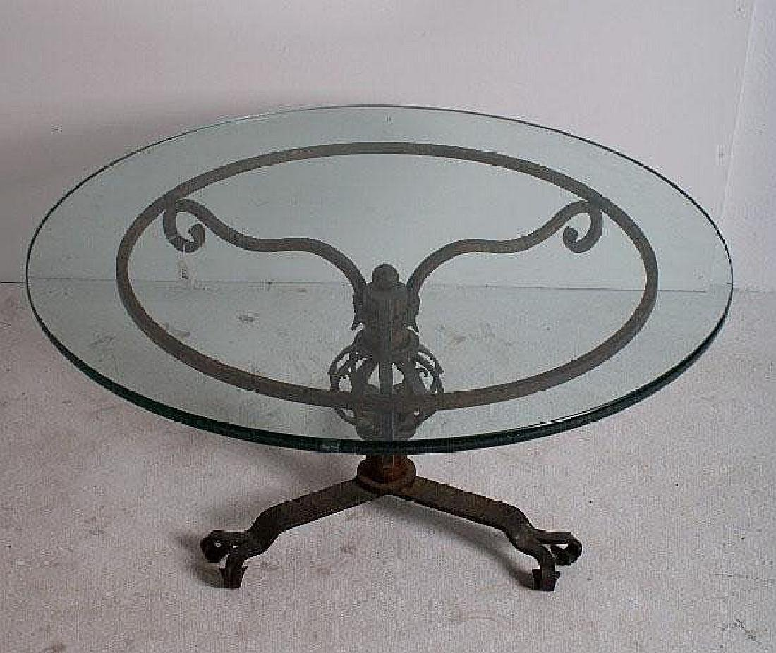 French wrought iron table.