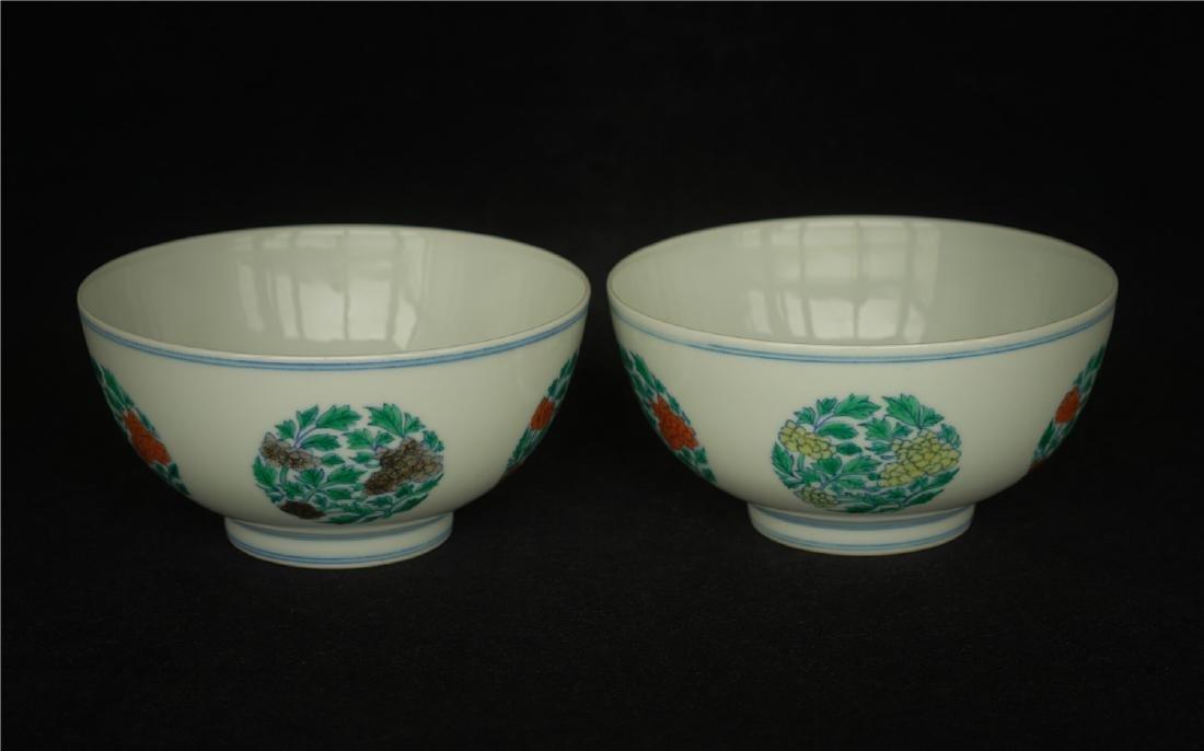 Pair Doucai porcelain bowls of Qing Dynasty KangXi - 10