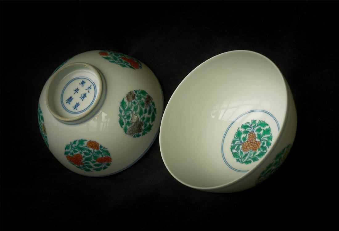 Pair Doucai porcelain bowls of Qing Dynasty KangXi - 7