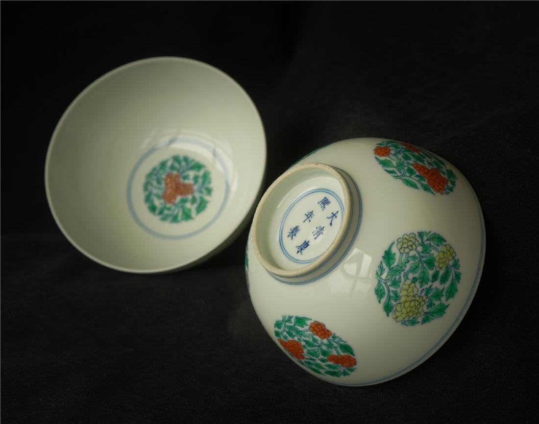 Pair Doucai porcelain bowls of Qing Dynasty KangXi - 8