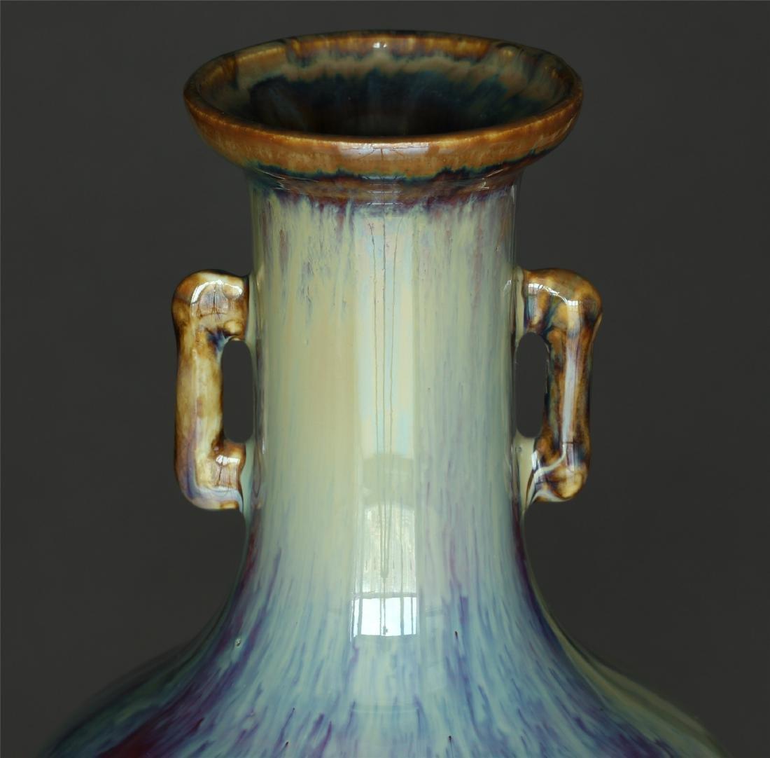 Red glaze discoloration porcelain vase of Qing Dynasty - 7