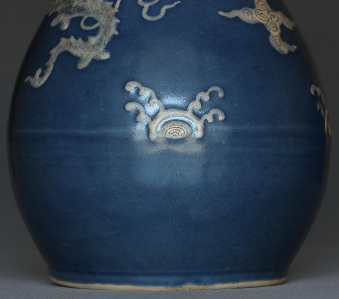 Blue glaze porcelain vase of Ming Dynasty. - 7