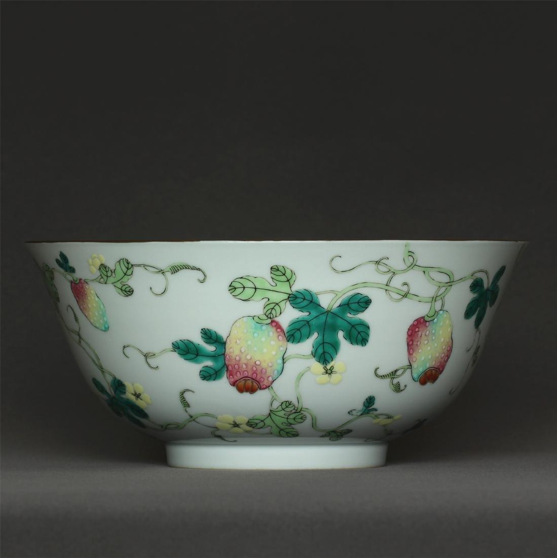 Famille rose porcelain bowl of Qing Dynasty GuangXu