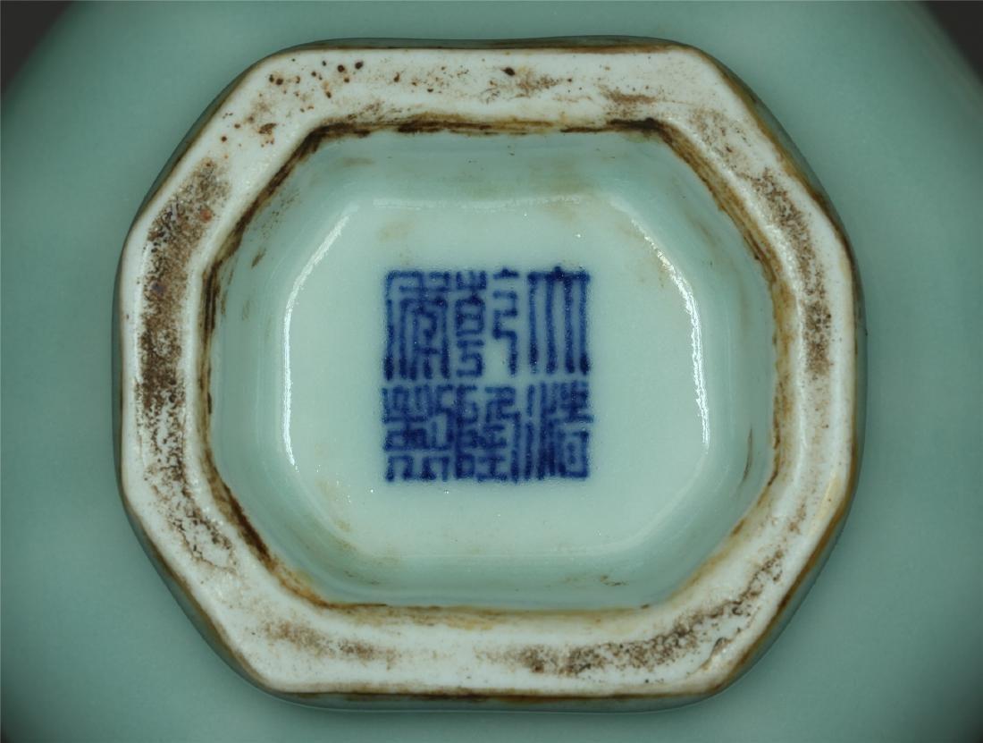 Blue glaze porcelain vase of Qing Dynasty QianLong - 2