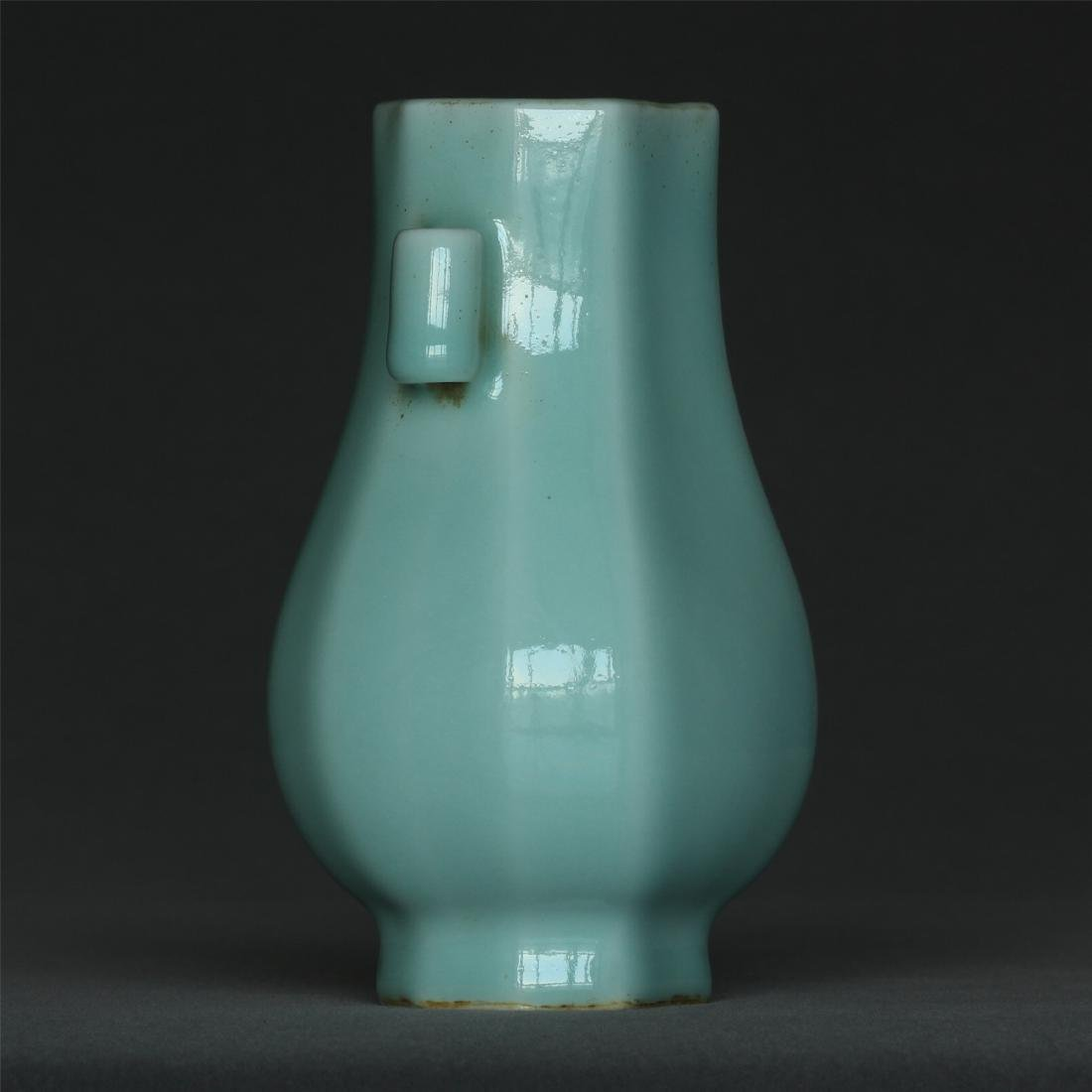 Blue glaze porcelain vase of Qing Dynasty QianLong - 3