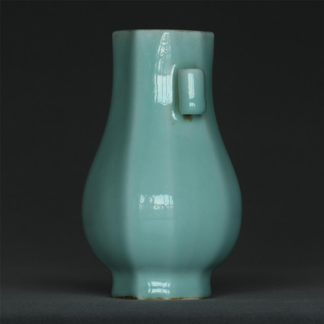 Blue glaze porcelain vase of Qing Dynasty QianLong - 4