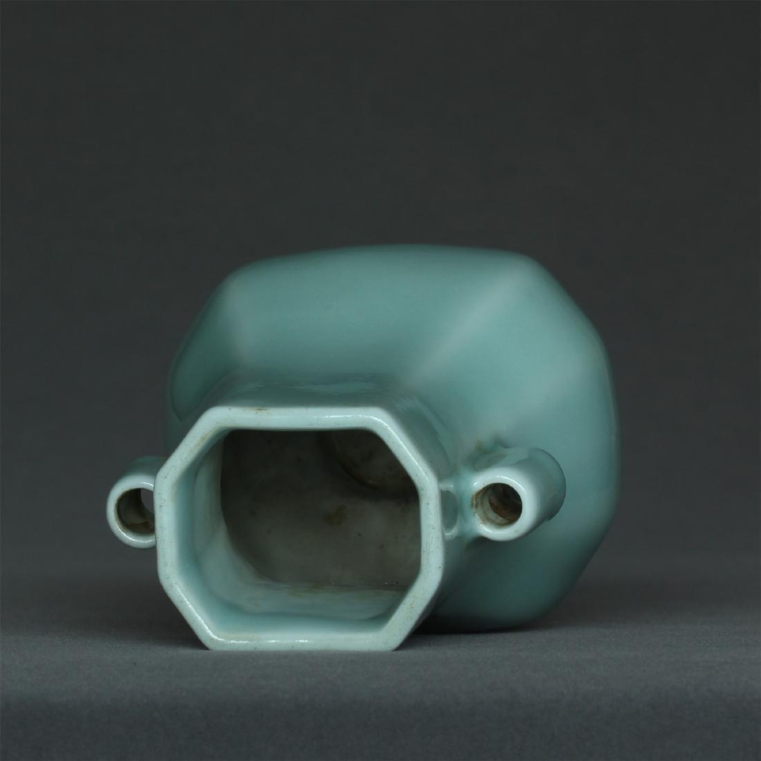 Blue glaze porcelain vase of Qing Dynasty QianLong - 9