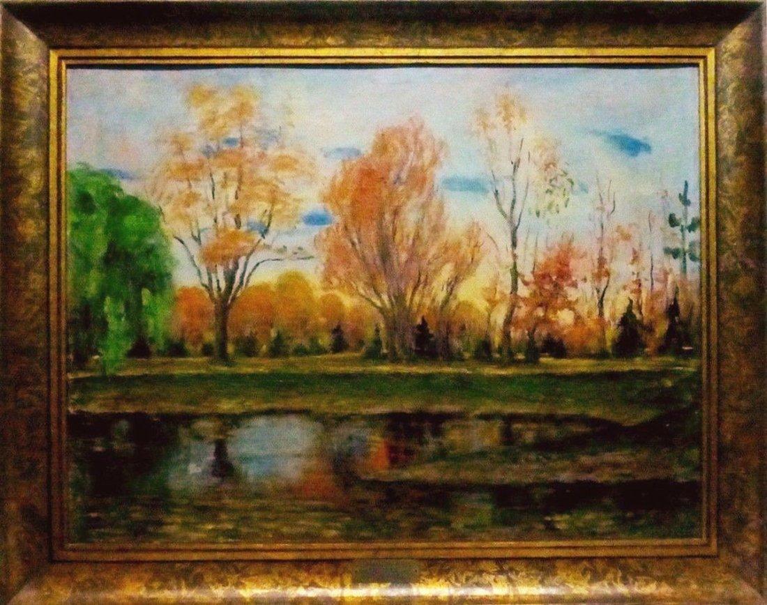 Janis Muncis (1886-1955) Vintage Autumn Landscape Oil