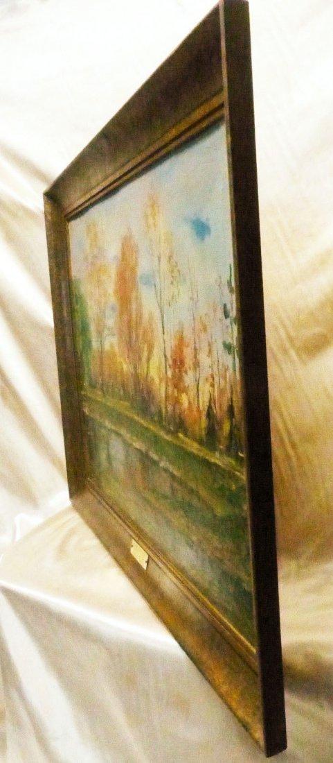 Janis Muncis (1886-1955) Vintage Autumn Landscape Oil - 4