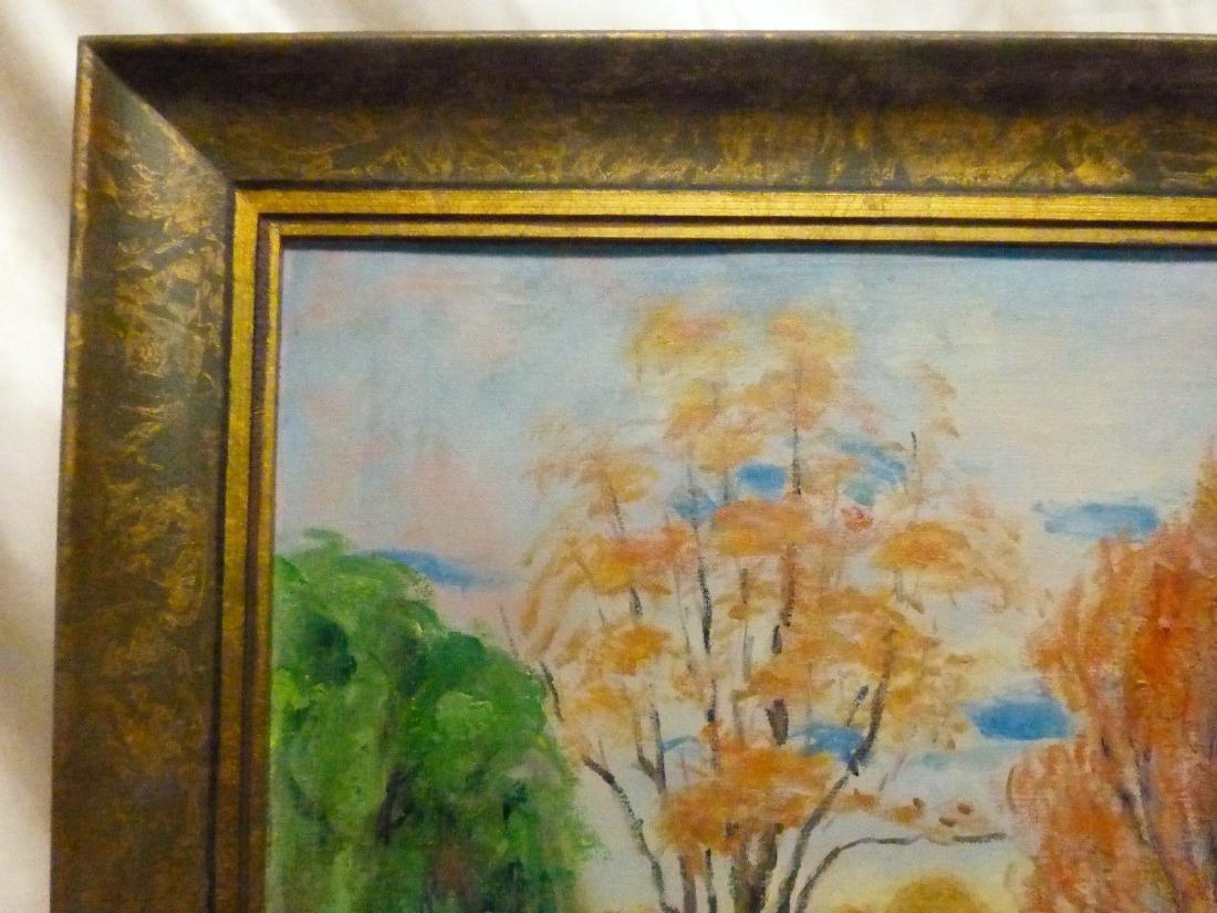 Janis Muncis (1886-1955) Vintage Autumn Landscape Oil - 5