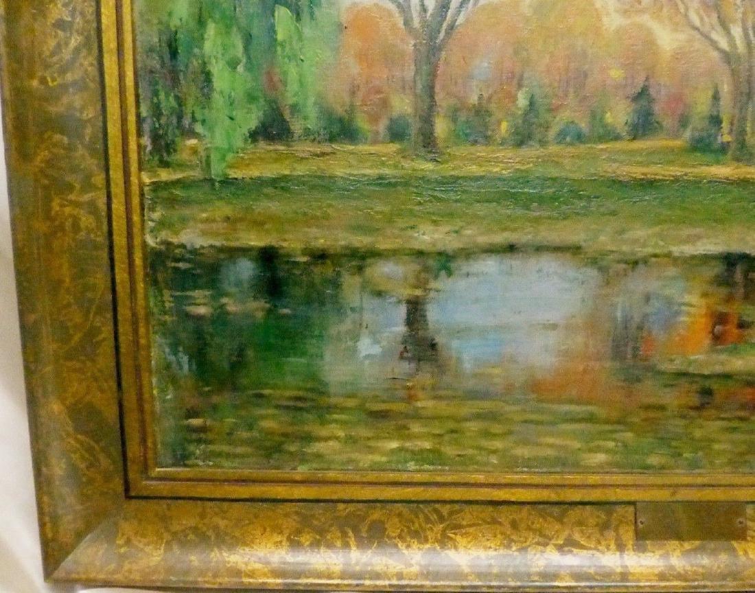 Janis Muncis (1886-1955) Vintage Autumn Landscape Oil - 6
