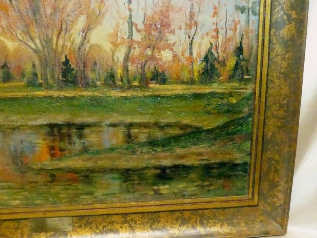 Janis Muncis (1886-1955) Vintage Autumn Landscape Oil - 7