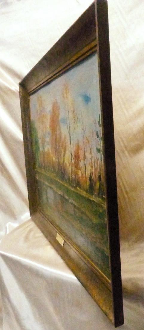 Janis Muncis (1886-1955) Vintage Autumn Landscape Oil - 8