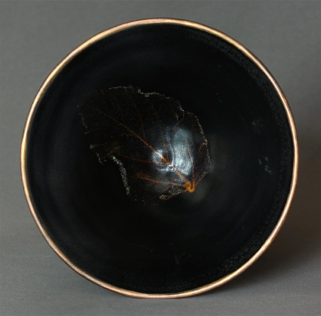 A JiZhou-Kiln 'Tree Leaf 'Bowl Southern Song Dynasty. - 4