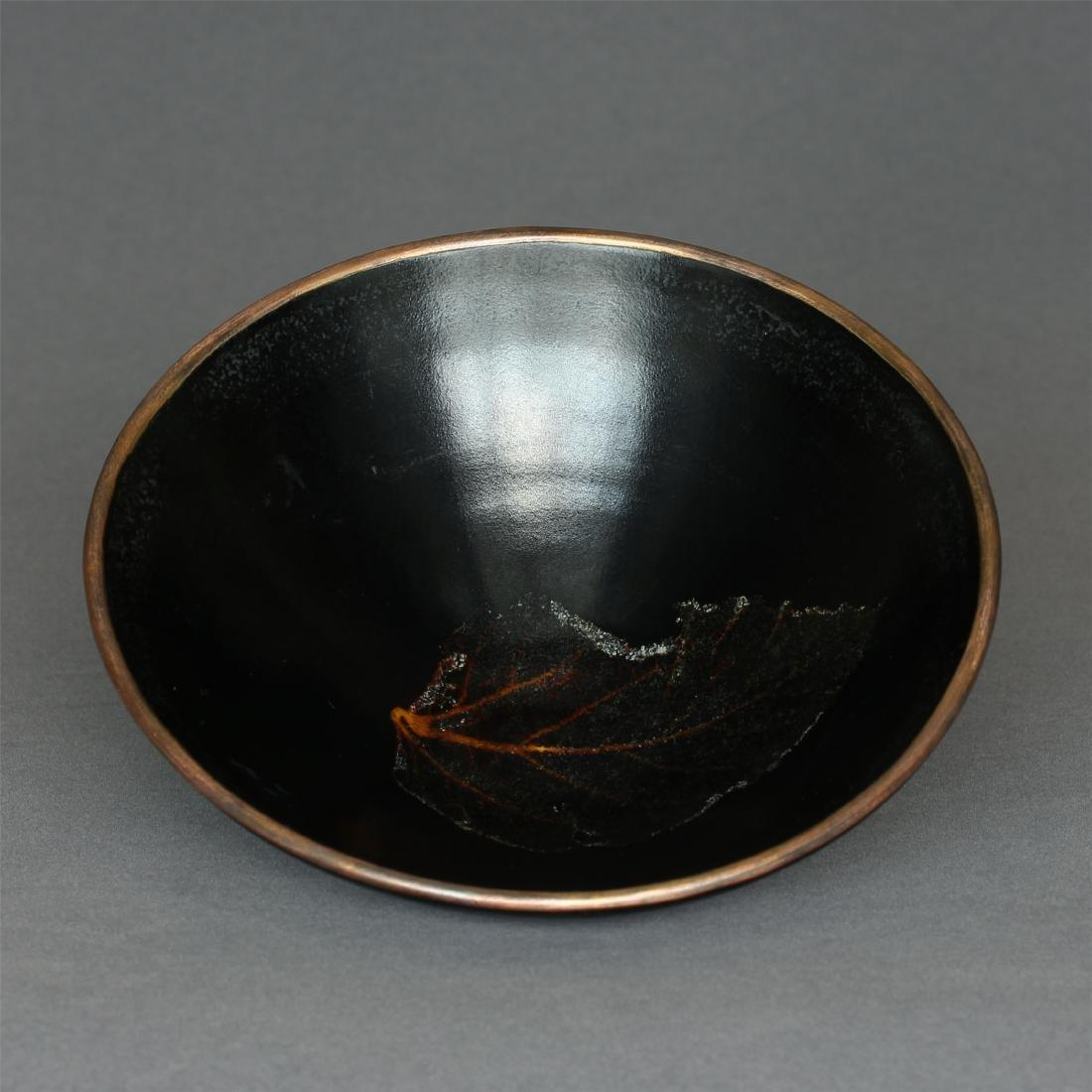 A JiZhou-Kiln 'Tree Leaf 'Bowl Southern Song Dynasty. - 8