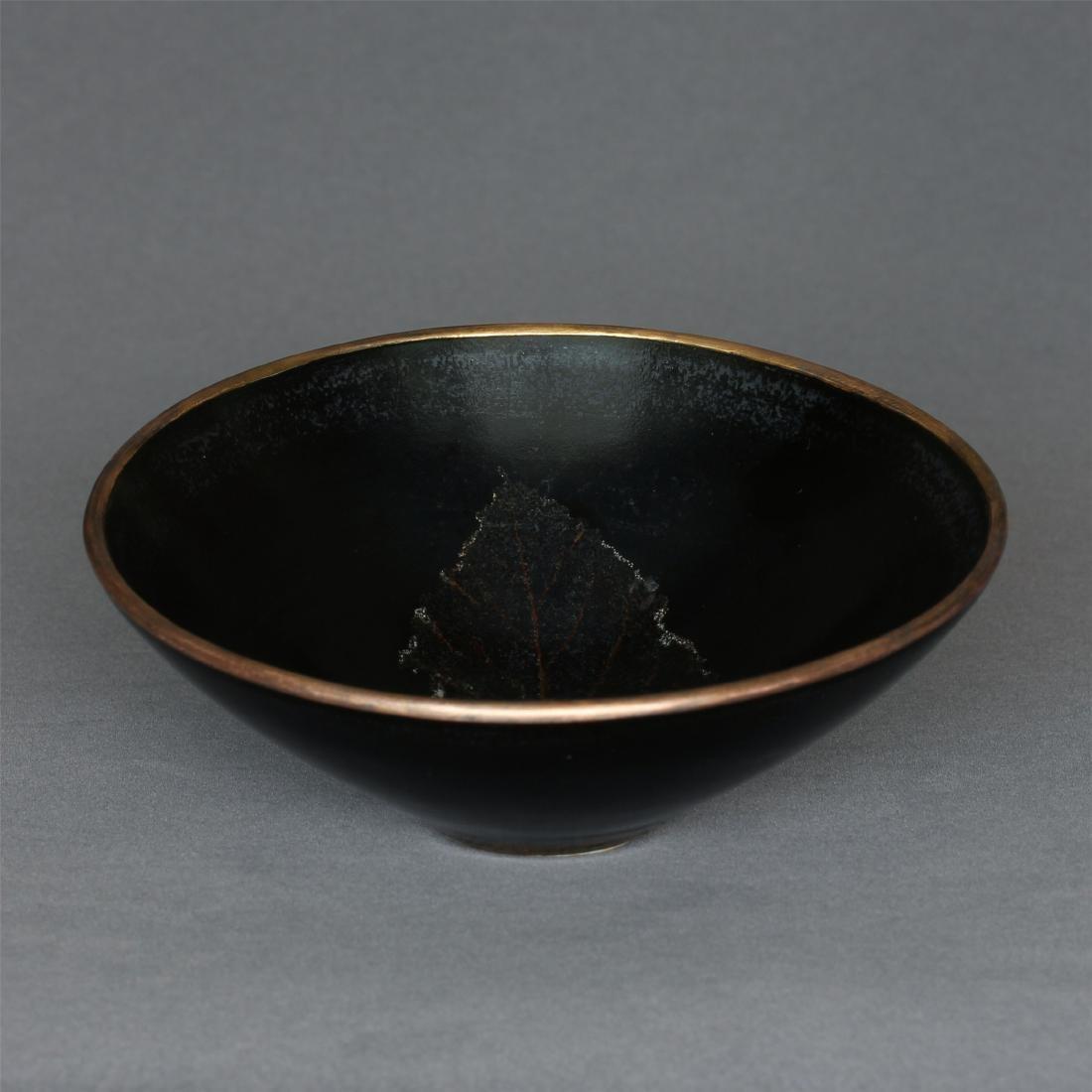 A JiZhou-Kiln 'Tree Leaf 'Bowl Southern Song Dynasty. - 9