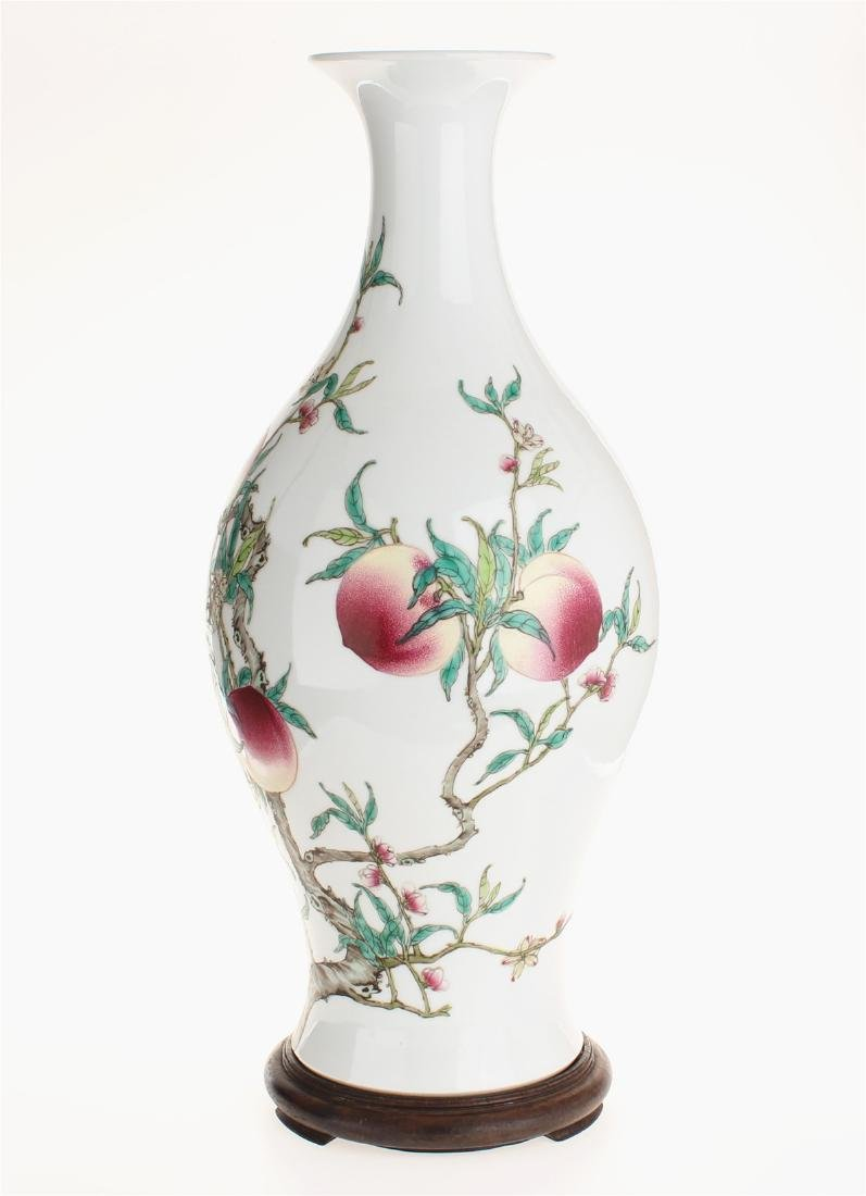 Exquisite famille rose porcelain vase of Qing Dynasty - 2