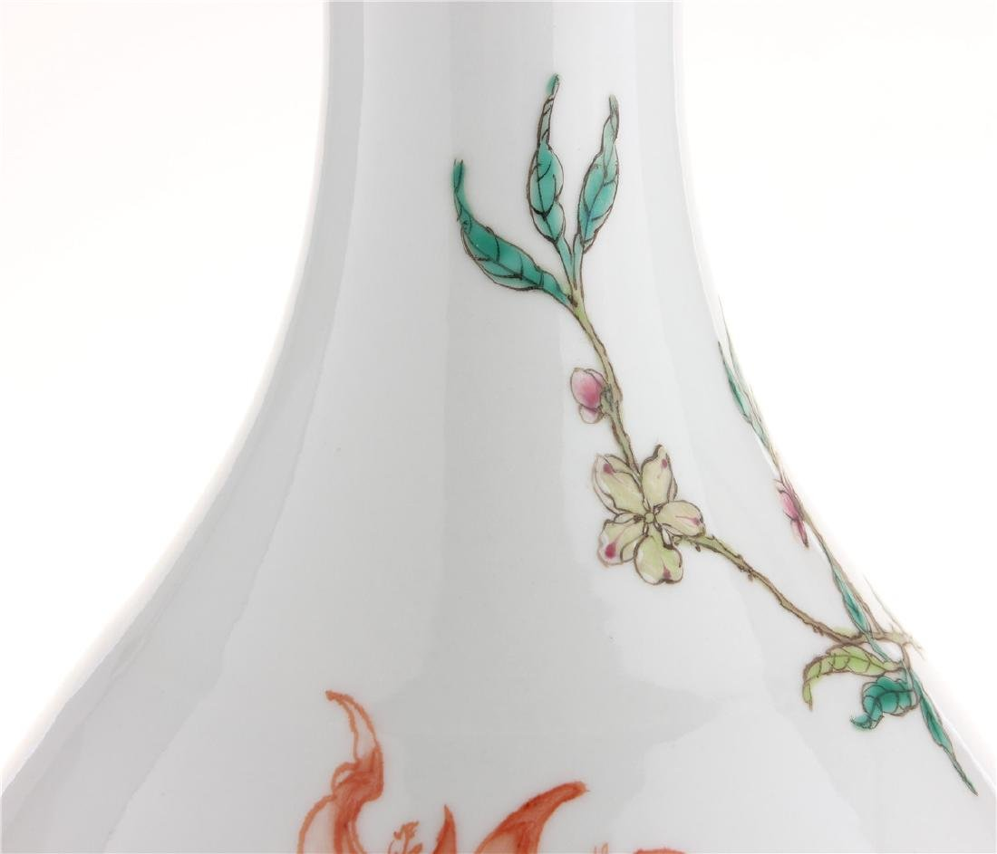 Exquisite famille rose porcelain vase of Qing Dynasty - 6