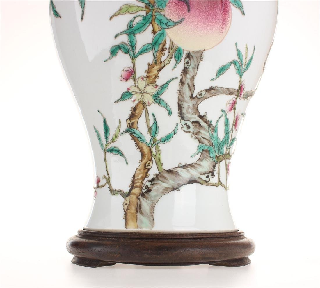 Exquisite famille rose porcelain vase of Qing Dynasty - 8