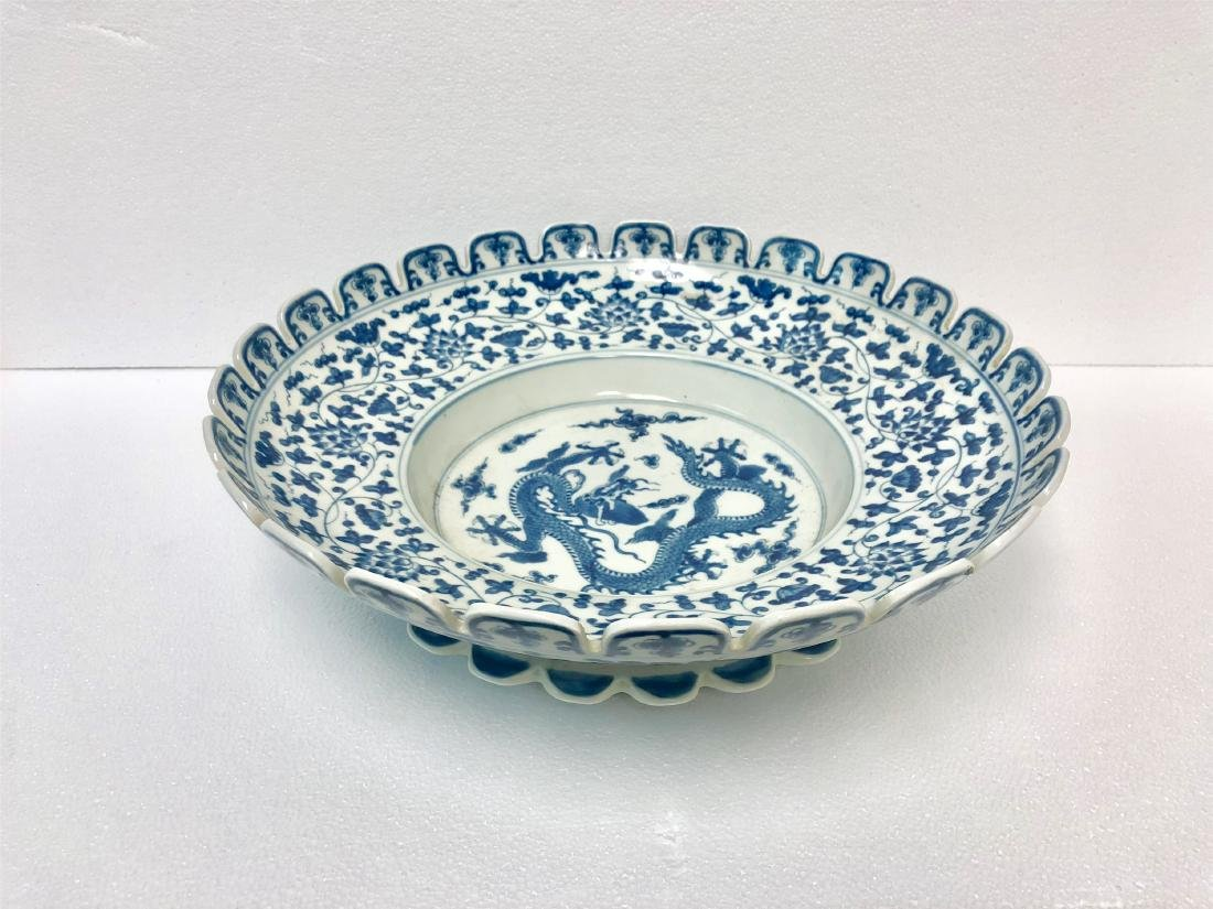Blue and white porcelain bowl of Ming Dynasty ChengHua