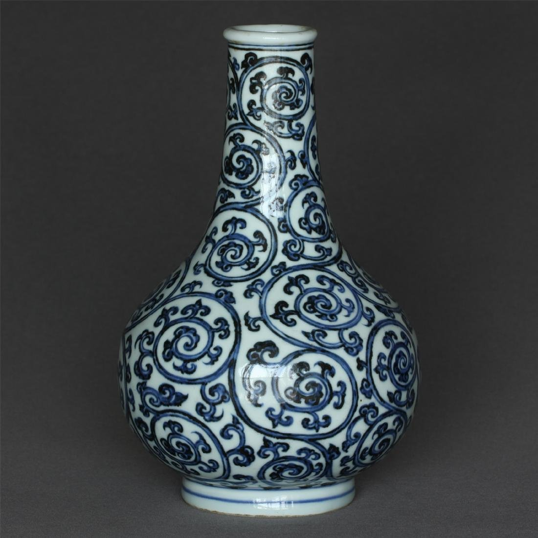 Blue and white porcelain vase of Ming Dynasty XuanDe - 4