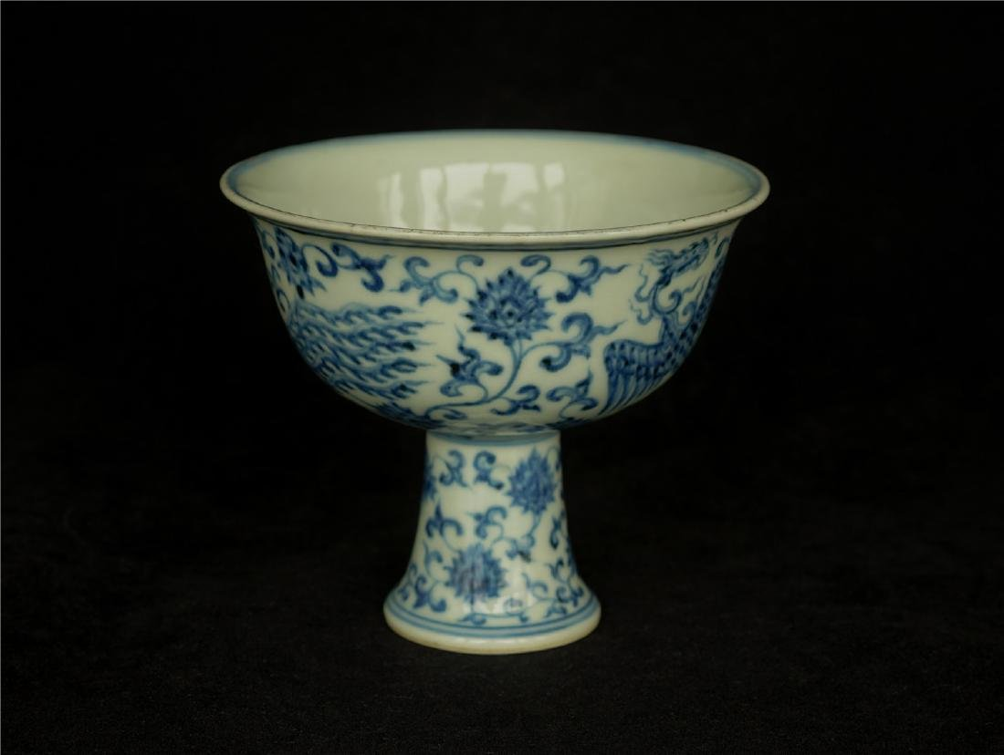 Blue and white porcelain chalice of Ming Dynasty XuanDe - 10