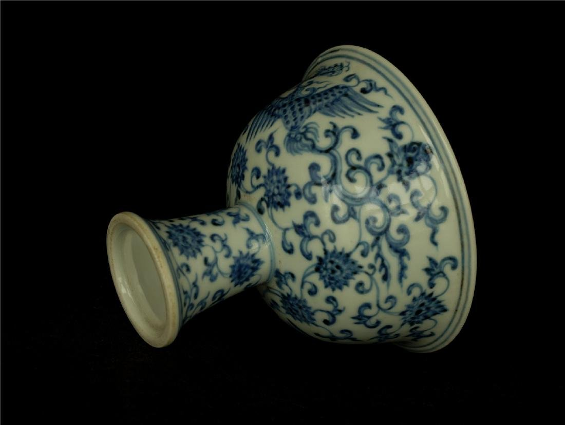 Blue and white porcelain chalice of Ming Dynasty XuanDe - 7