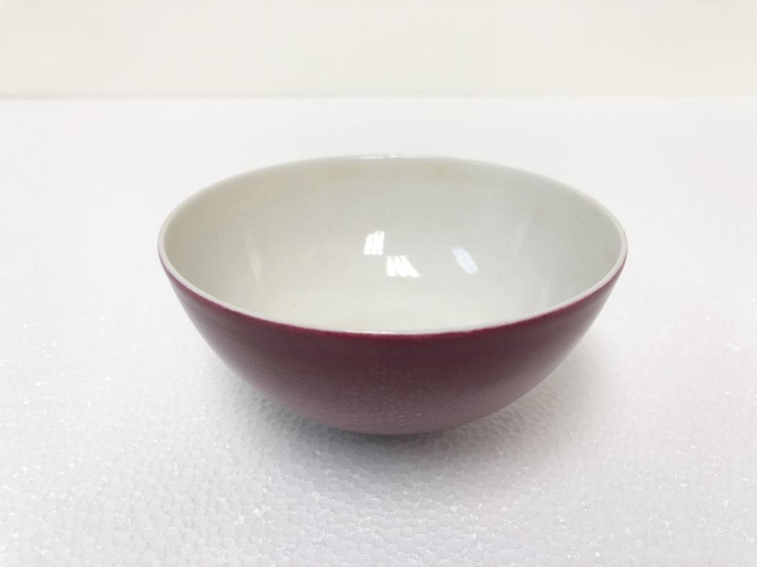 Rouge glaze porcelain bowl of Qing Dynasty QianLong - 5