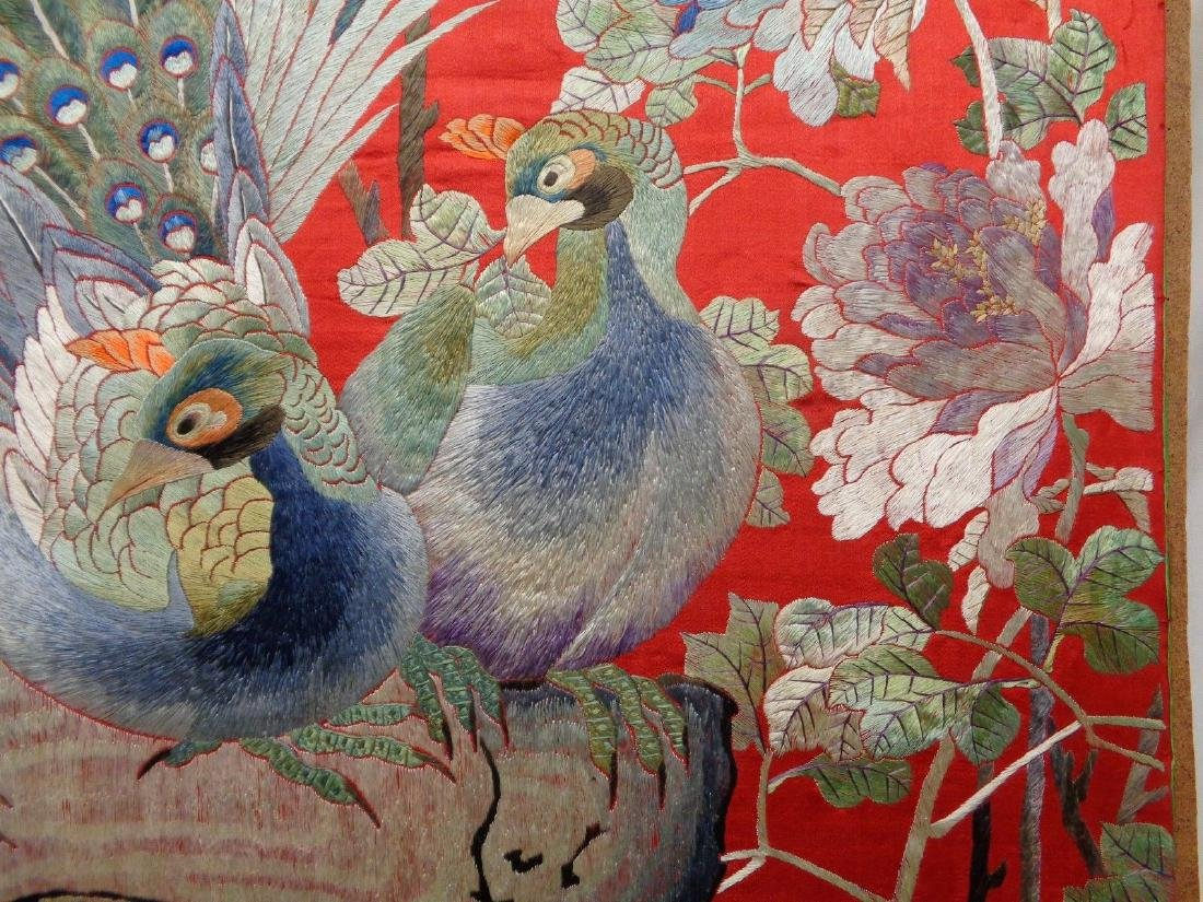 Extra Large Antique Chinese Silk Embroidery Art w. - 3