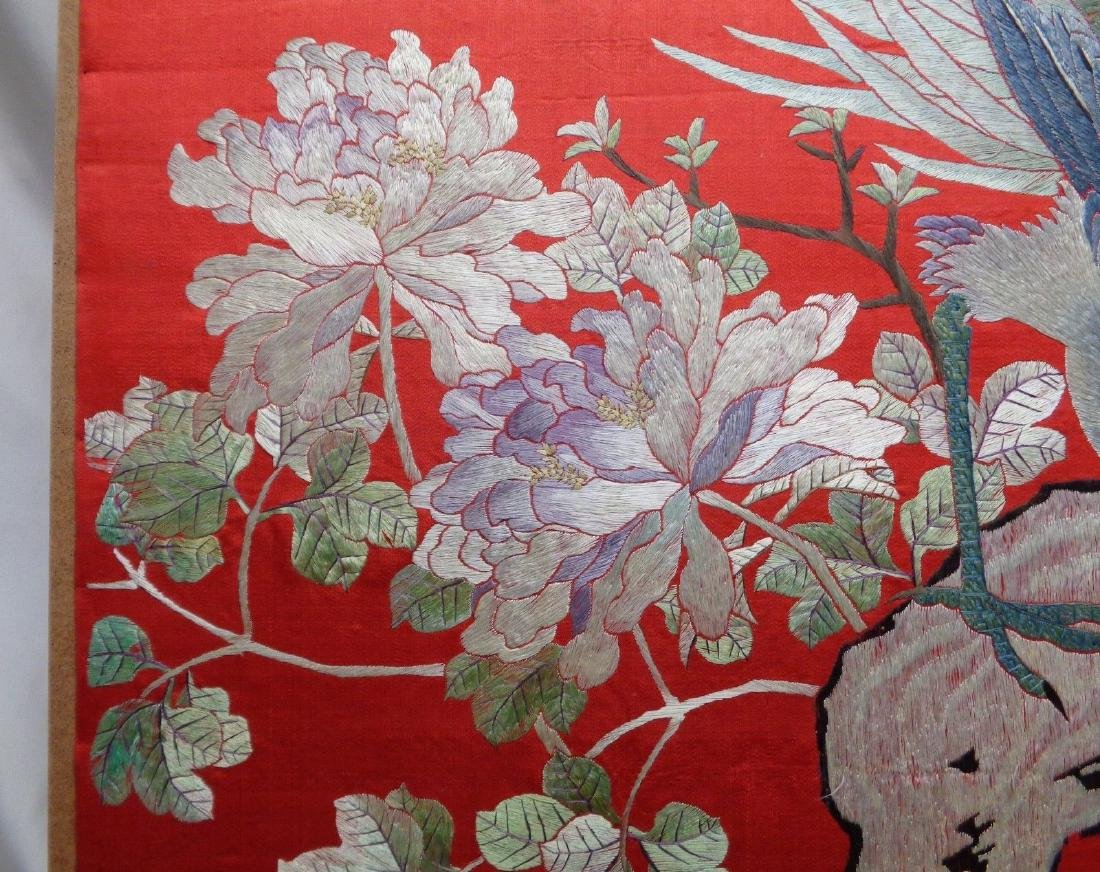 Extra Large Antique Chinese Silk Embroidery Art w. - 7