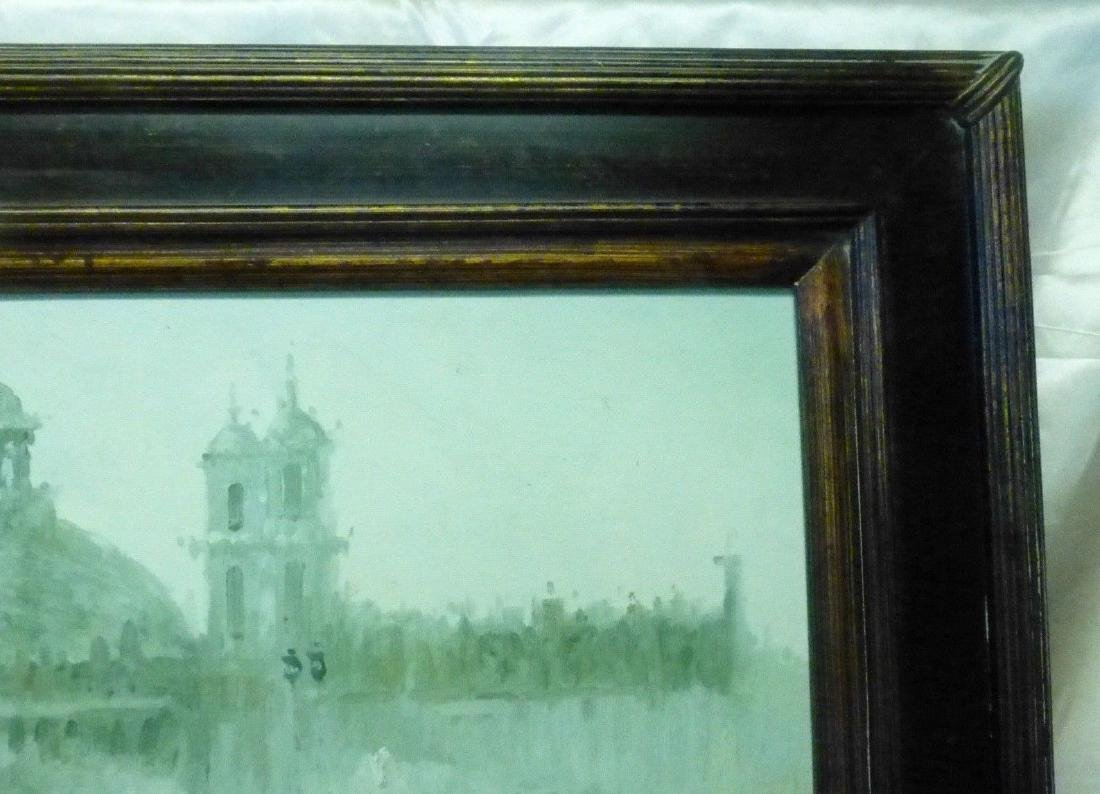 Signed Estate Found Vintage Venice Bridge Oil Painting - 6