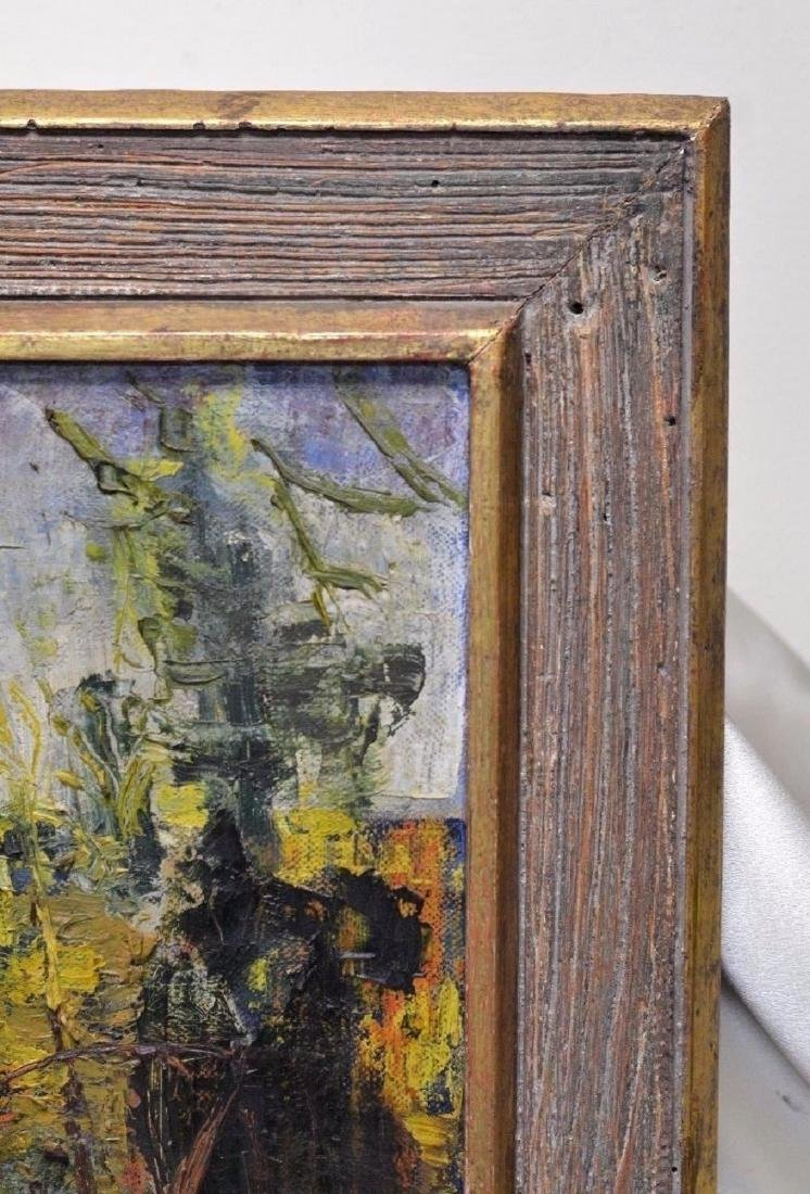 Antique Impression Field Landscape Oil Painting in Gold - 4