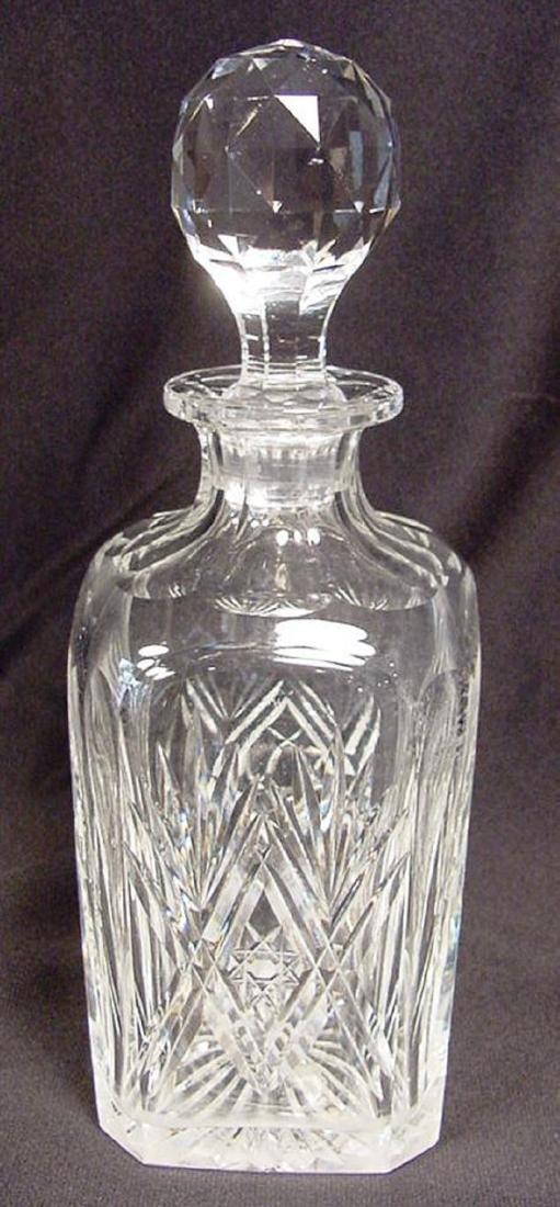 Webb English Cut Crystal Decanter - 2