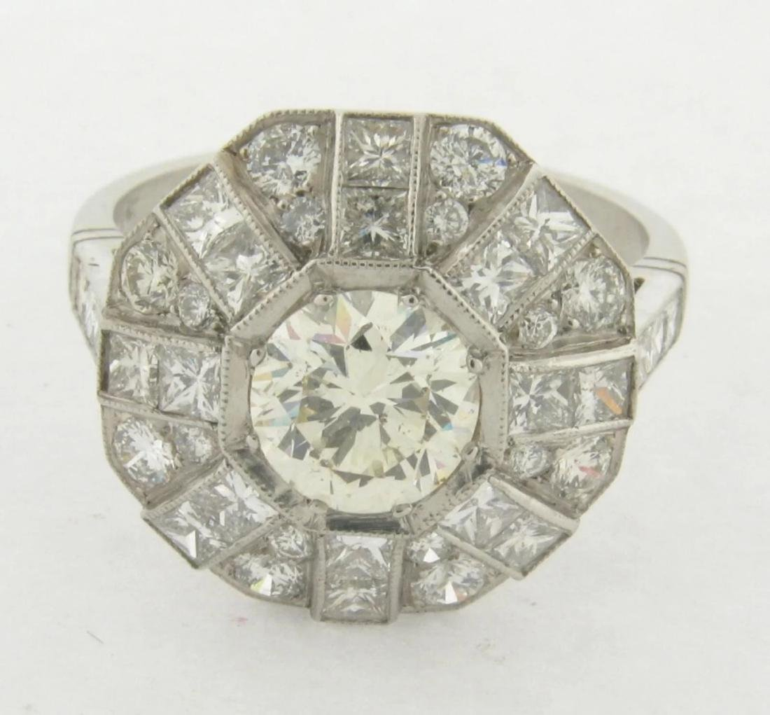 Beautiful 1-1/4 Carat Round Cut Diamond Set in Platinum