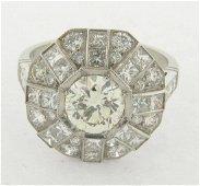 Beautiful 1-1/4 Carat Round Cut Diamond Set in Platinum