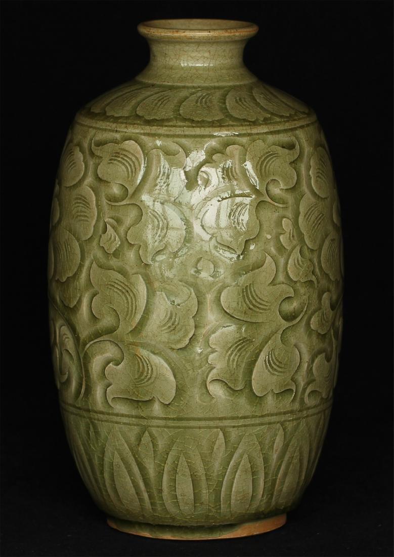 Chinese YaoZhou-Kiln porcelain vase of Ming Dynasty. - 3