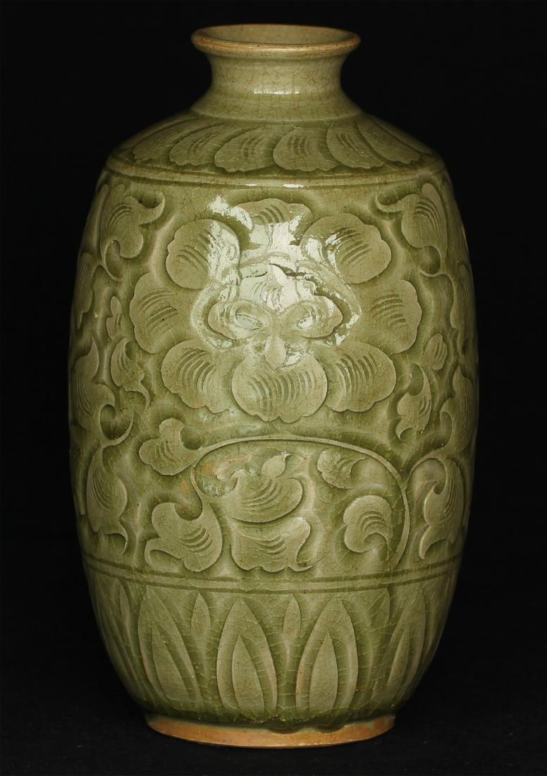 Chinese YaoZhou-Kiln porcelain vase of Ming Dynasty. - 4