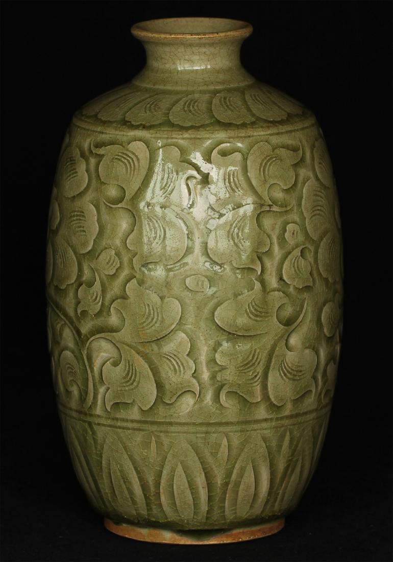 Chinese YaoZhou-Kiln porcelain vase of Ming Dynasty. - 5