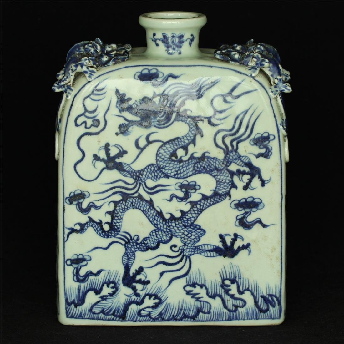 Chinese blue and white porcelain vase of Ming Dynasty.