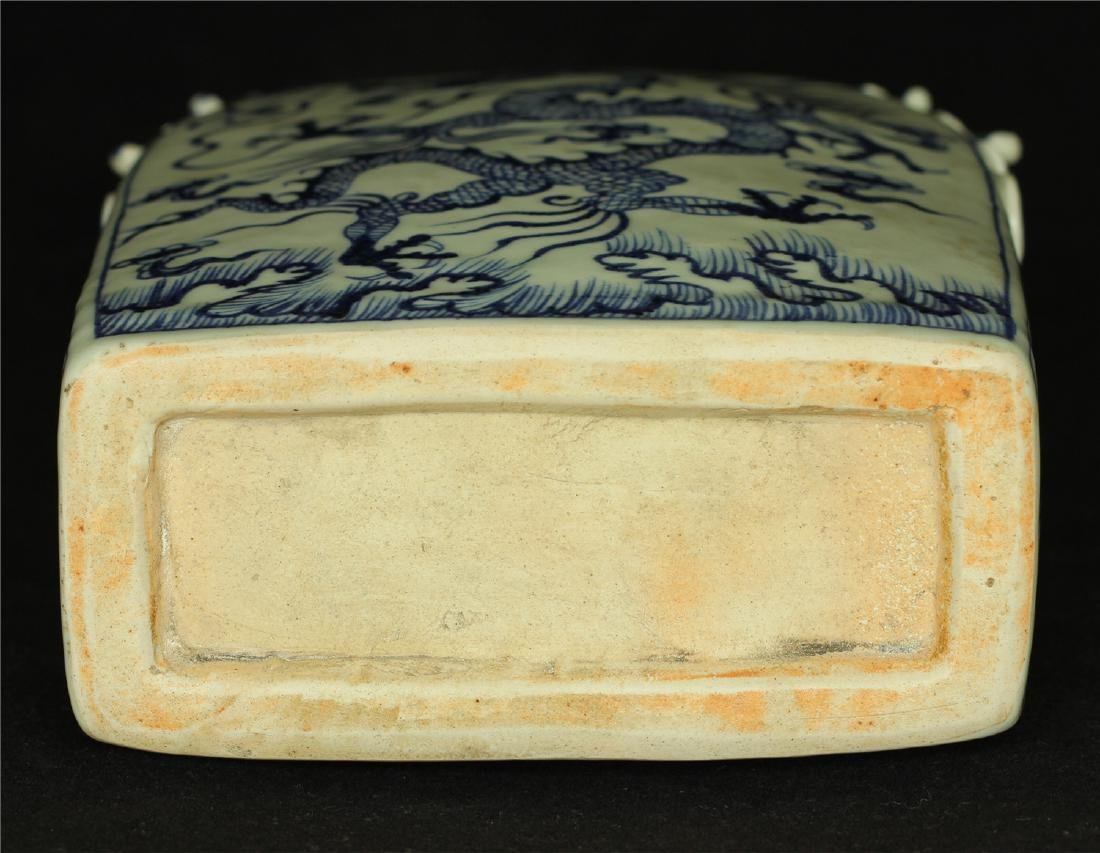 Chinese blue and white porcelain vase of Ming Dynasty. - 2