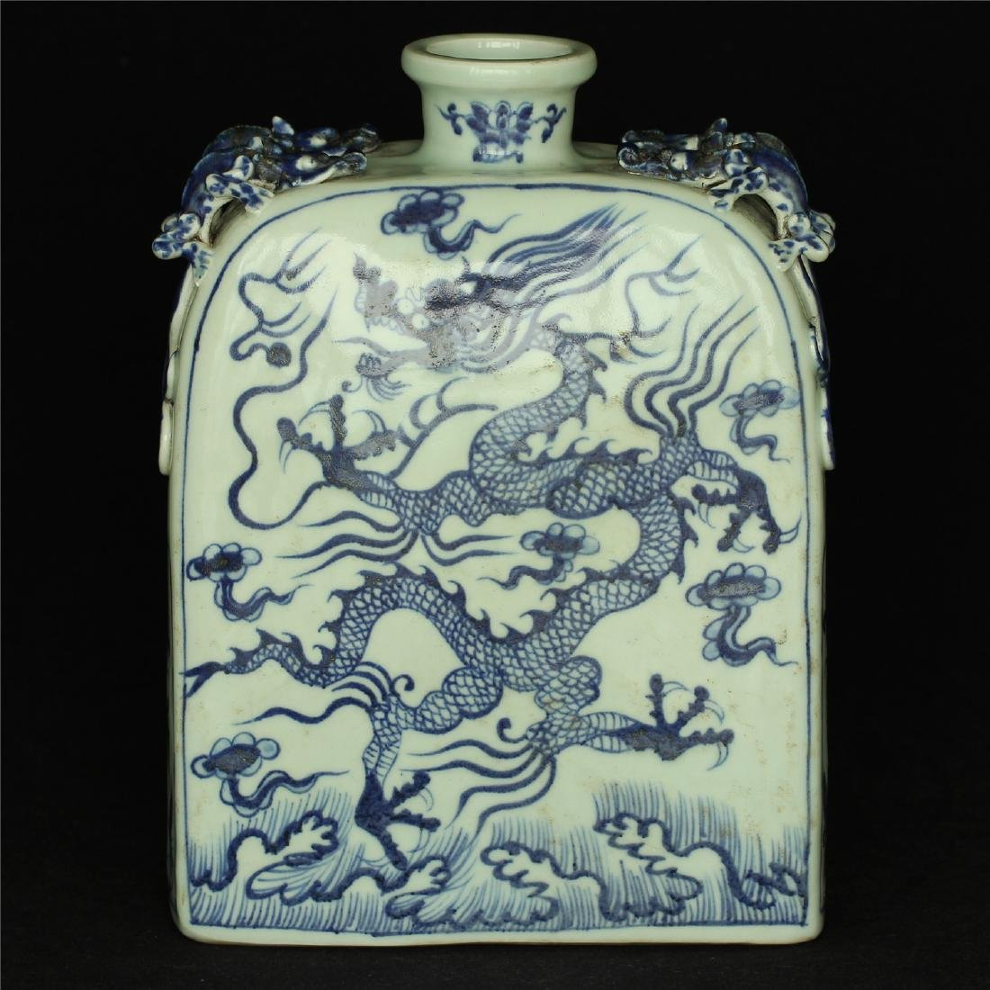 Chinese blue and white porcelain vase of Ming Dynasty. - 9