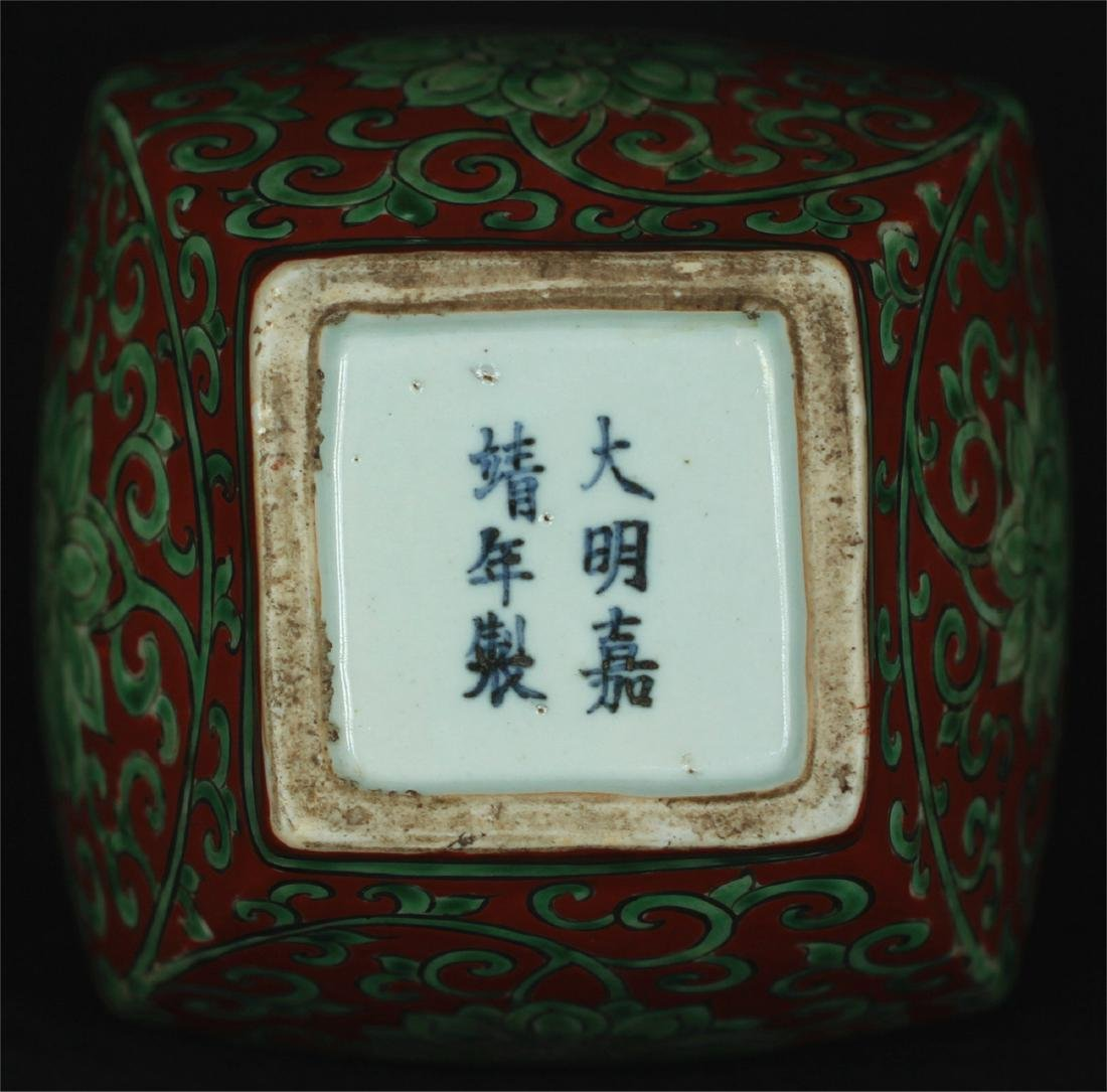Chinese red & green porcelain vase of Ming Dynasty - 2