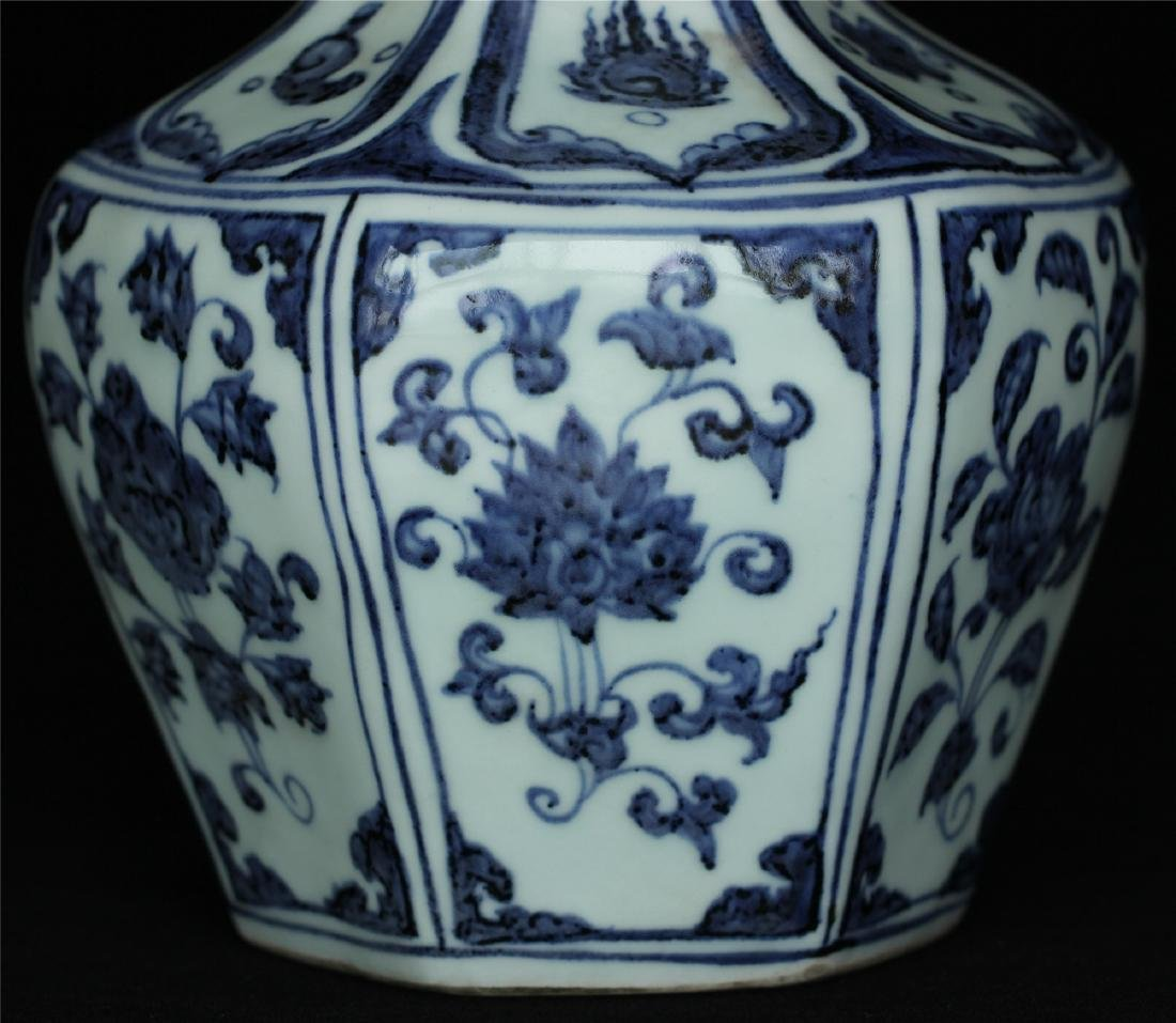 Chinese blue and white porcelain vase of Ming Dynasty - 7