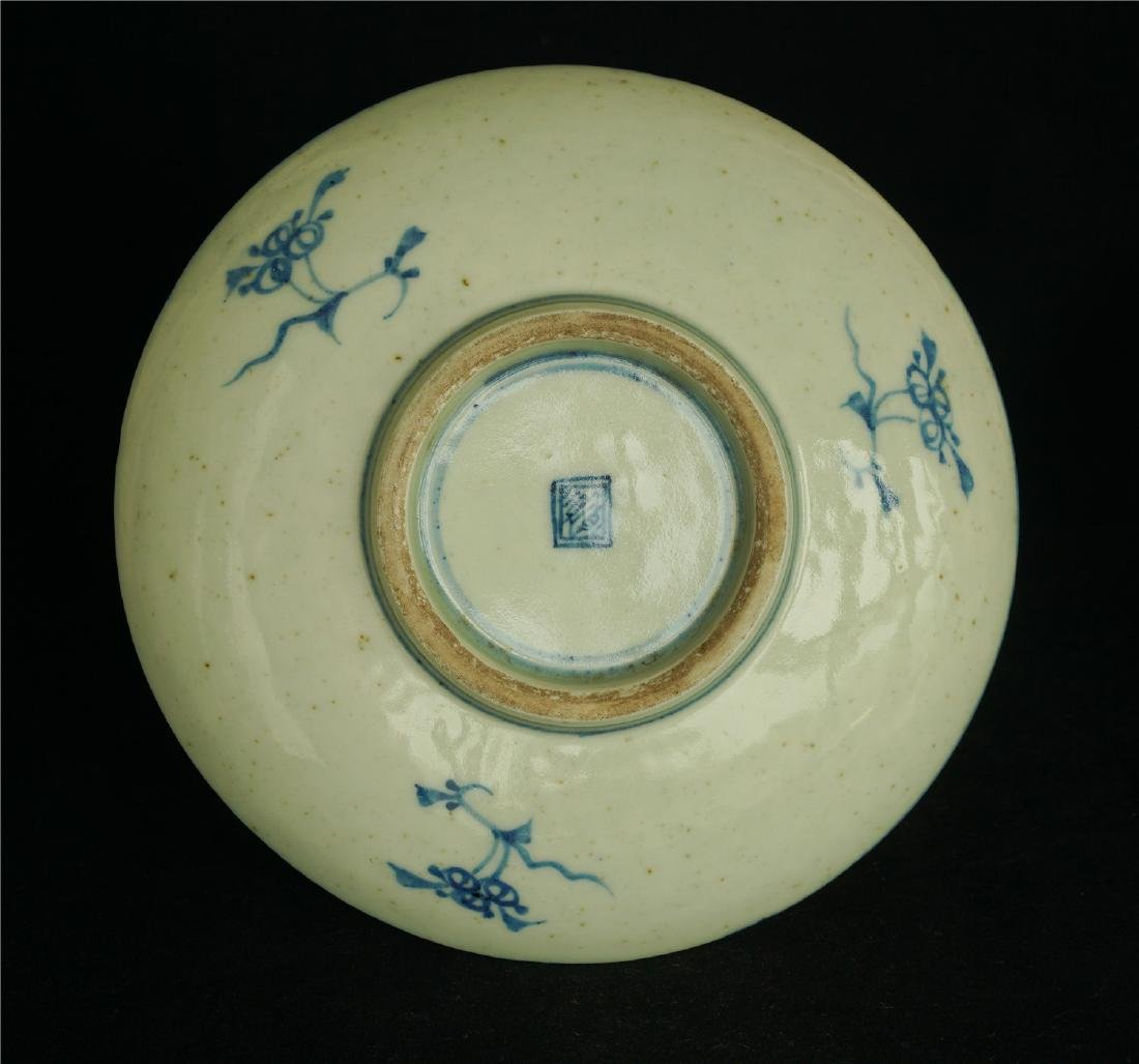 Chinese blue and white porcelain plate of Qing Dynasty - 2