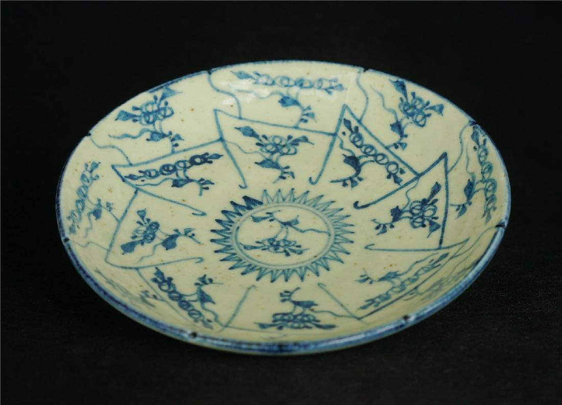 Chinese blue and white porcelain plate of Qing Dynasty - 3