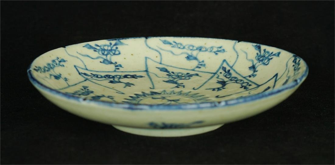 Chinese blue and white porcelain plate of Qing Dynasty - 4