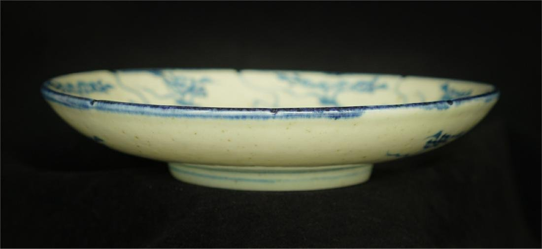 Chinese blue and white porcelain plate of Qing Dynasty - 5