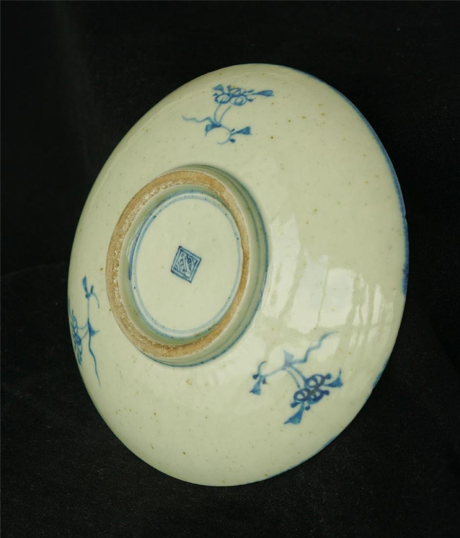 Chinese blue and white porcelain plate of Qing Dynasty - 7